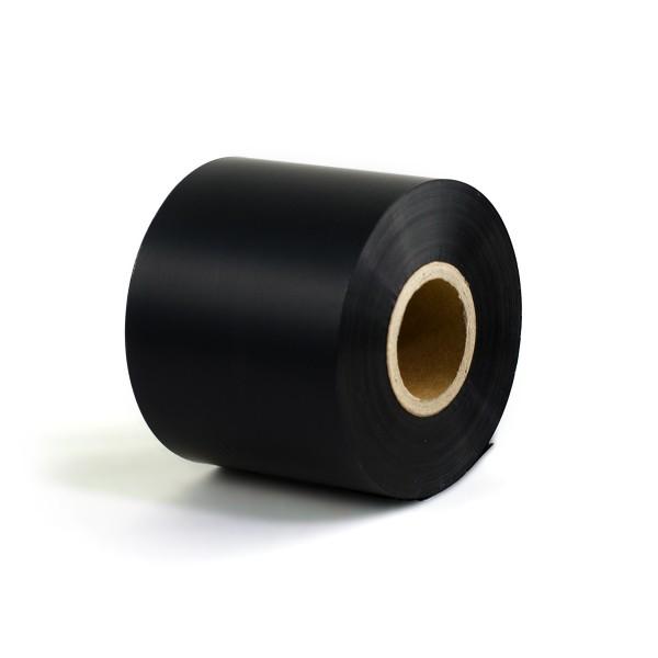 Thermotransferfolie Premium Wachs/Harz - Breite 55, 80 oder 110mm - 300m - Farbband schwarz