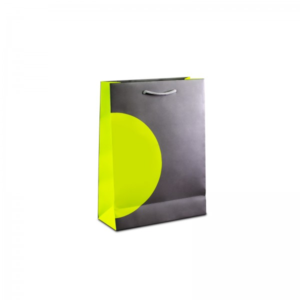 PRESTIGE exklusive Tragetaschen 18x08x21 cm, bedruckt, glanzfolienkaschiert