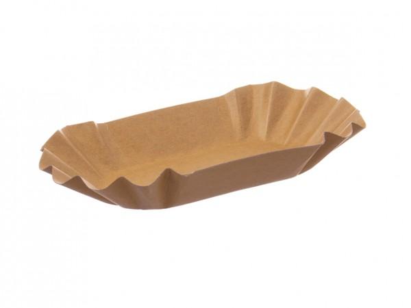Pappschale Pommesschale braun in verschiedenen Größen