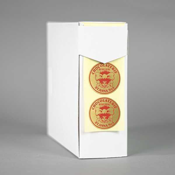 Prägeetiketten rund 60 mm | runde Etiketten mit elegantem Heißfolienprägedruck