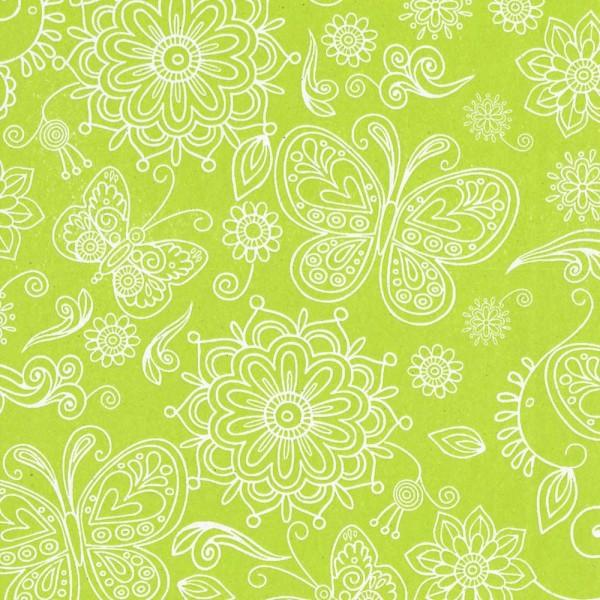 Seidenpapier Rolle für Blumen Summertime maigrün