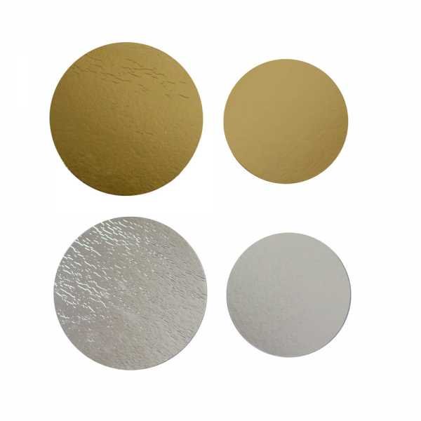 Kartonrundscheiben silber-gold in zwei Größen