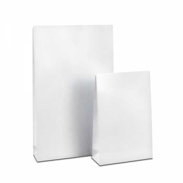 Geschenktüte weiß hochglanz, Kraftpapier