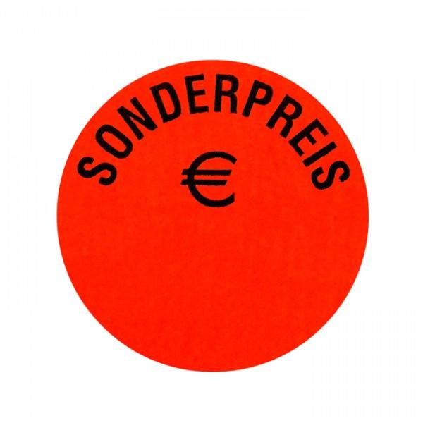 runde Etiketten 32mm, Druck: Sonderpreis Euro, permanent