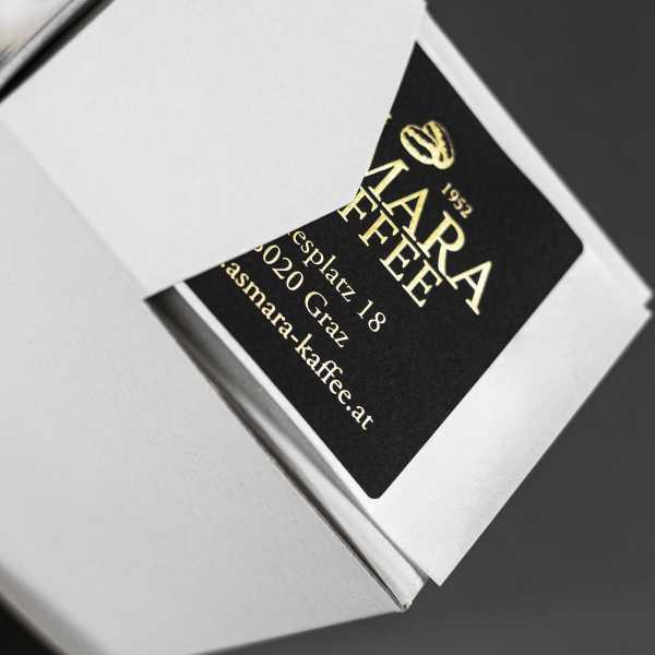 Prägeetiketten 30x15 mm rechteckig mit abgerundeten Ecken | eleganter Heißfolienprägedruck