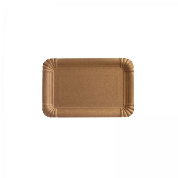 Pappteller eckig Kuchendeckel braun in verschiedenen Größen