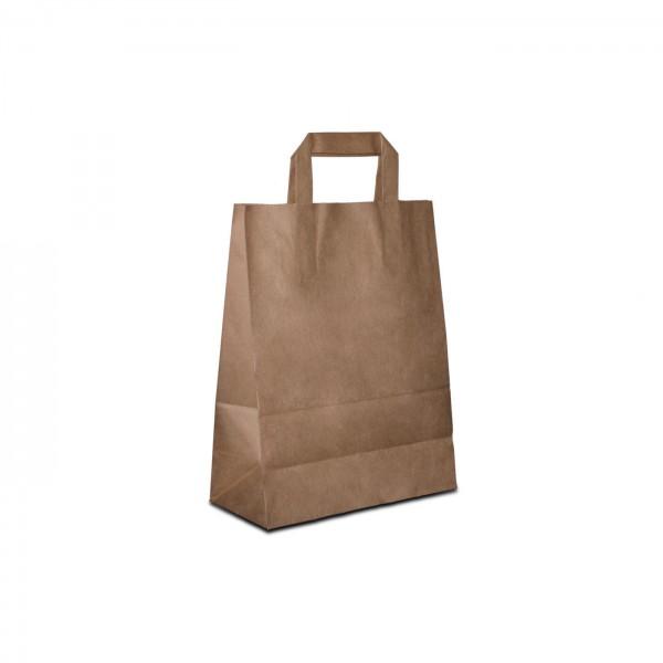 Papiertüten Braun, mit Henkel, in 8 Größen günstig bestellen