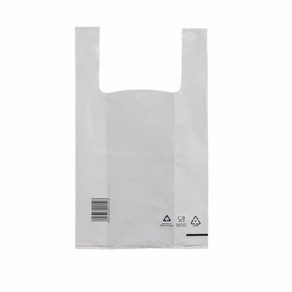 Hemdchentragetaschen LDPE COEX 28+14x48, 50my weiss