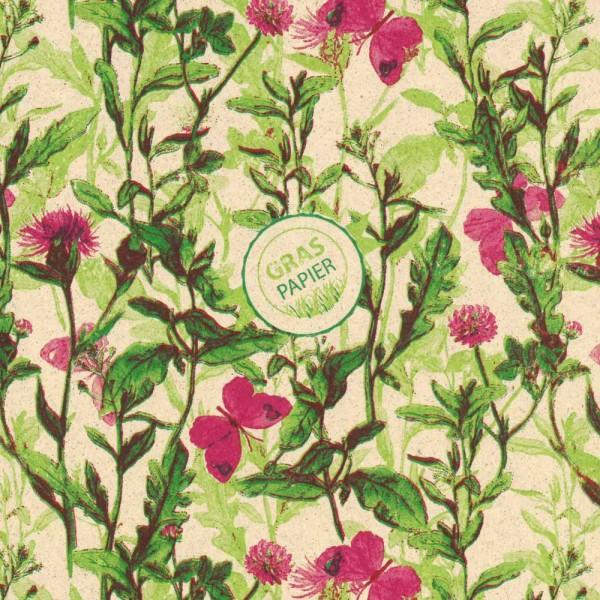 Seidenpapier Rolle für Blumen Graspapier Bunte Wiese