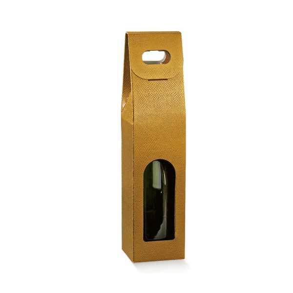 Wein Geschenk Tragekarton Skin gold, 4 Größen