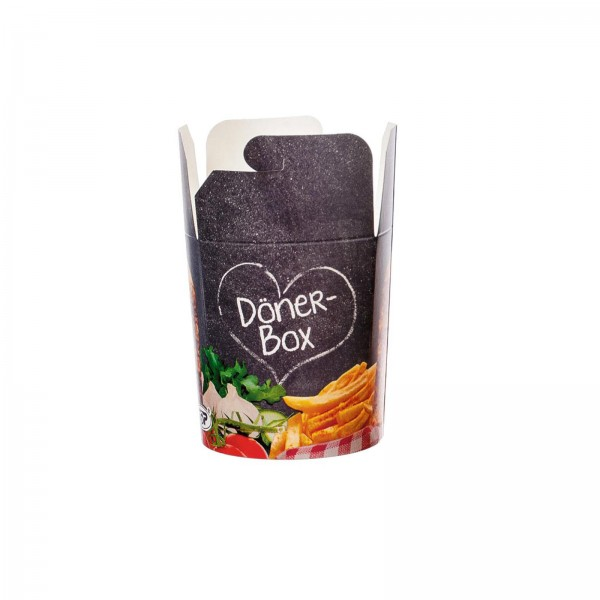 Dönerbox Pappe bedruckt 2 Größen Food-Container
