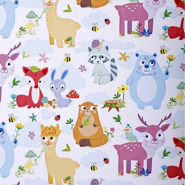 Geschenkpapierrolle Kinder Blauer Bär