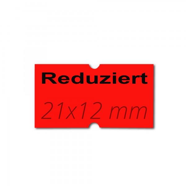 Lochetiketten 21x12 Rechteck, Preisauszeichner Etikettenrollen