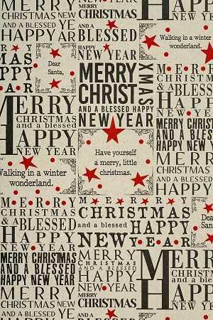 Geschenkpapierrolle Weihnachten Graspapier Weihnachtswunsch