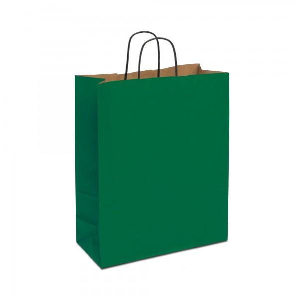 Papiertüten Grün, mit Kordelhenkel, in 4 Größen