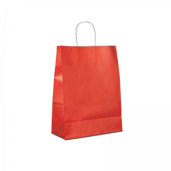 Papiertüten Rot, mit Kordelhenkel, in 3 Größen
