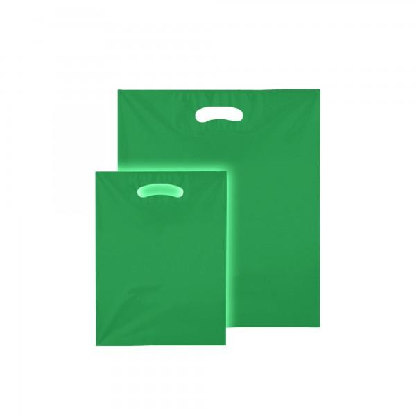 Plastiktüten 25x33 cm, 50my, Tropic grün