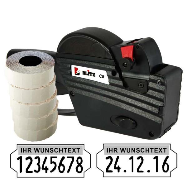 Blitz C8 Preisauszeichner, 8 Stellen, (Set 7.500)