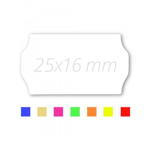 Preisetiketten 25x16 für Contact, Preisauszeichner Etikettenrollen