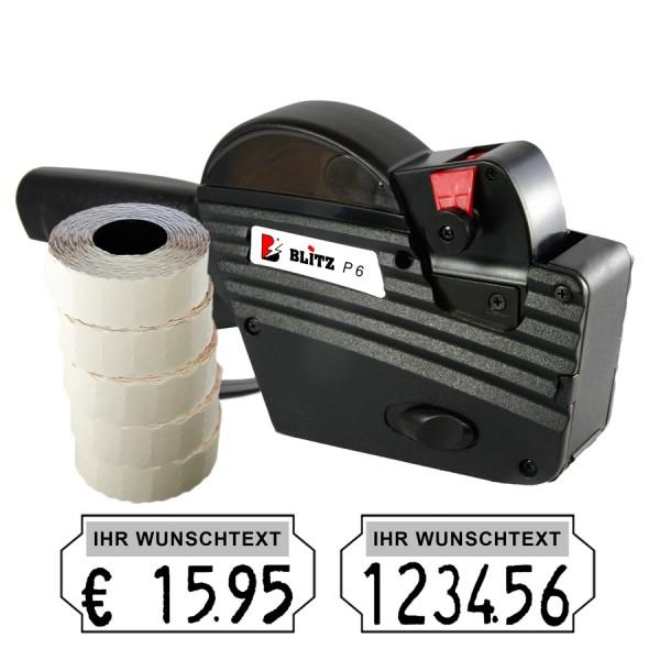 Blitz P6 Preisauszeichner, 6 Stellen, (Set 7.500)