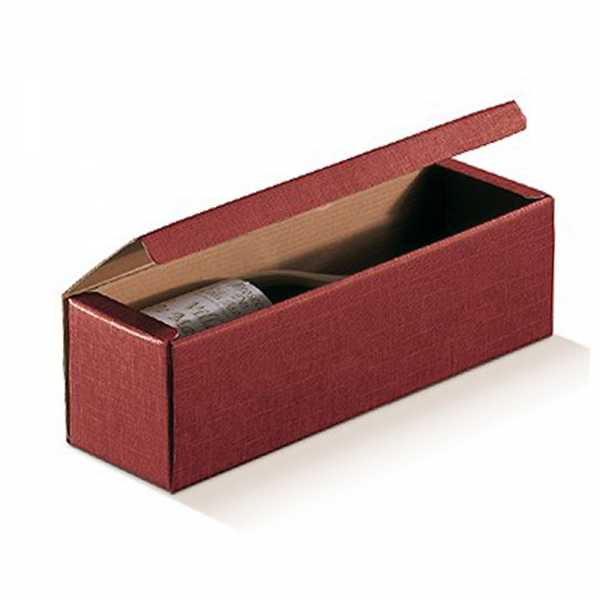 Weinkarton Leinenstruktur bordeaux, 3 Größen
