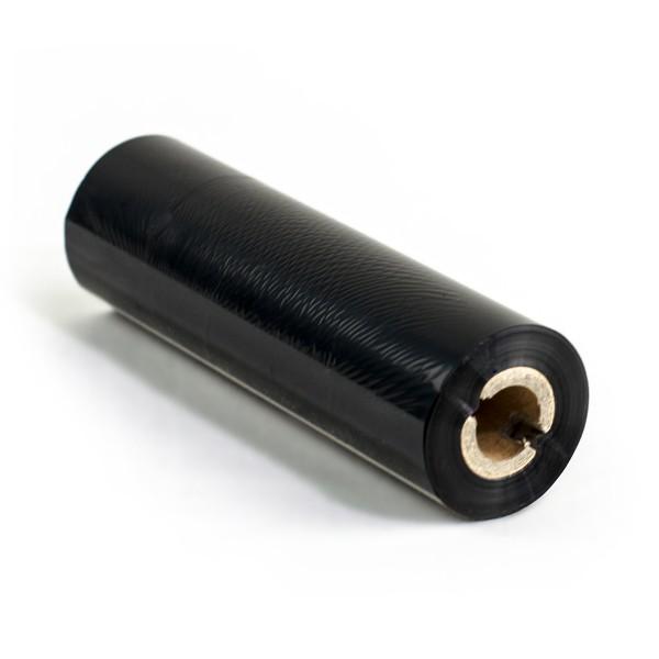 Thermotransferfolie 110mm x 74m Premium Harz 318 - 1/2 Zoll mit Nut - Farbband schwarz