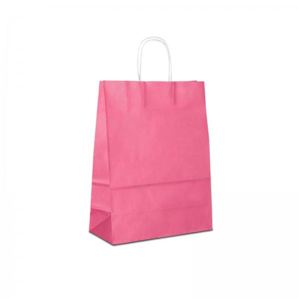 Papiertüten Pink - Rosa, mit Kordelhenkel, in 3 Größen