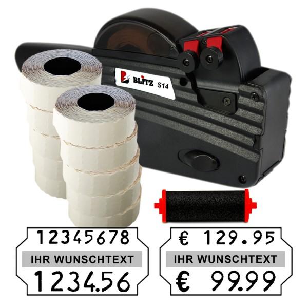 Blitz S14 Preisauszeichner, 8+6 Stellen, (Set 12.000 + 1 FR)