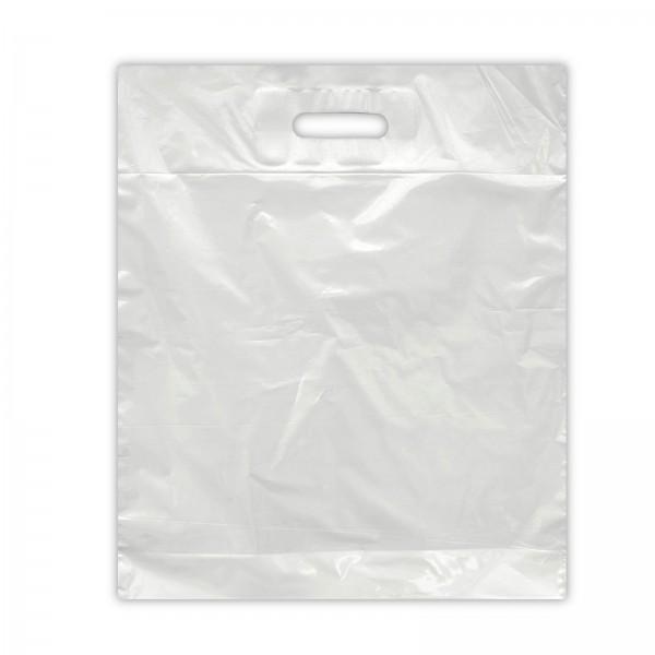 Plastiktüten 37x44+2x4, LDPE 30my, weiß,
