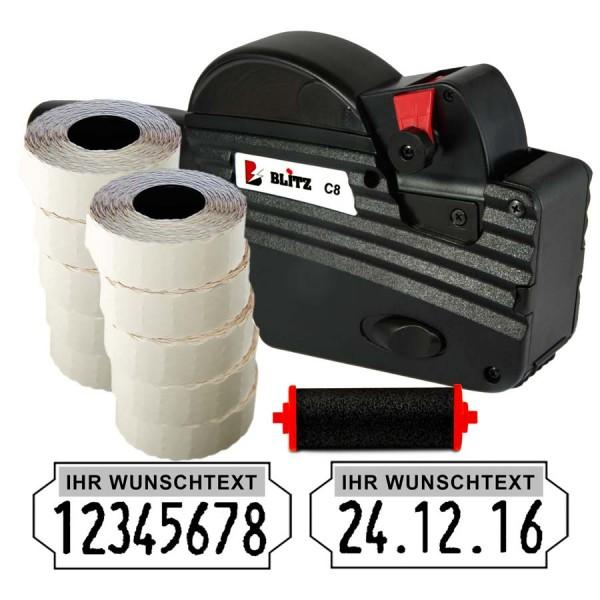 Blitz C8 Preisauszeichner, 8 Stellen, (Set 15.000 + 1 FR)