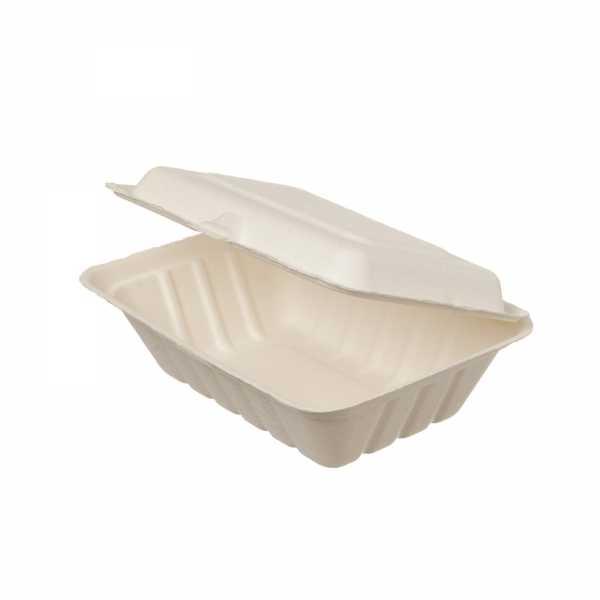 Lunchbox aus Bagasse in drei Größen