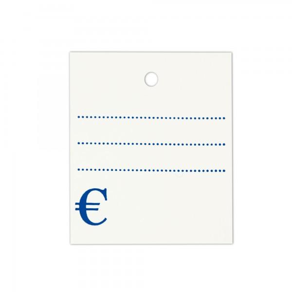 Kartonetiketten 35x45 mm, einzeln, Druck: Liniert Euro