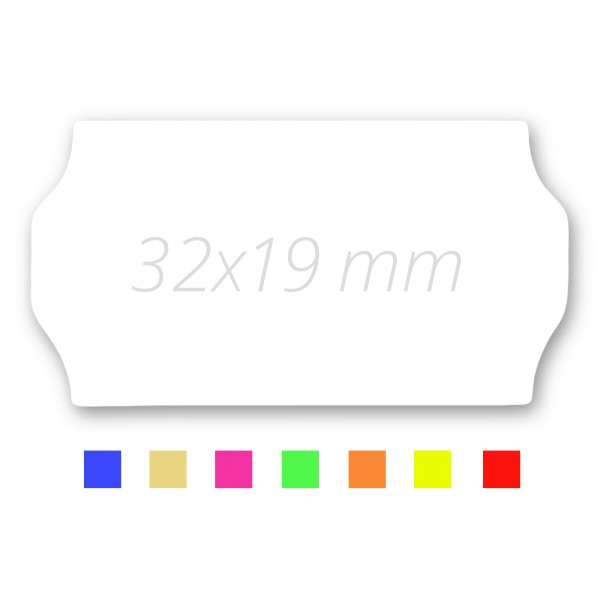 Preisetiketten 32x19, Preisauszeichner Etikettenrollen