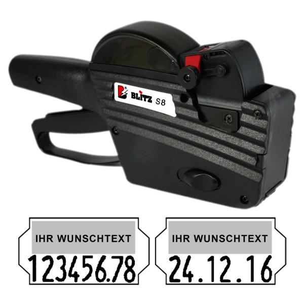 Blitz S8 Preisauszeichner, 1-Zeile, 0+8 Stellen unten