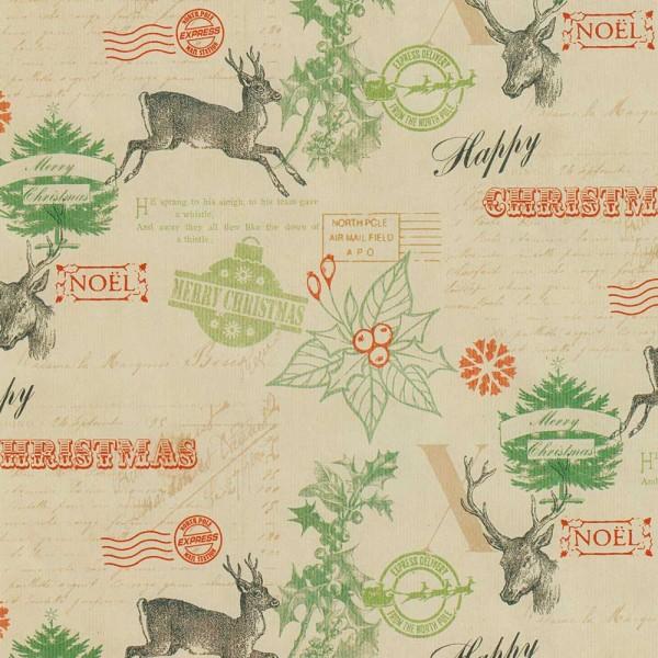 Geschenkpapierrolle Weihnachten Classic Rentier