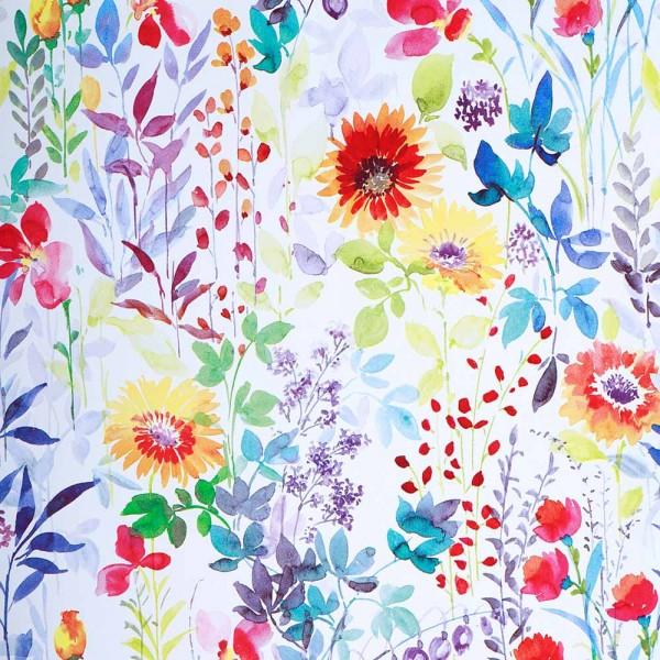 Geschenkpapierrolle Design Flowers