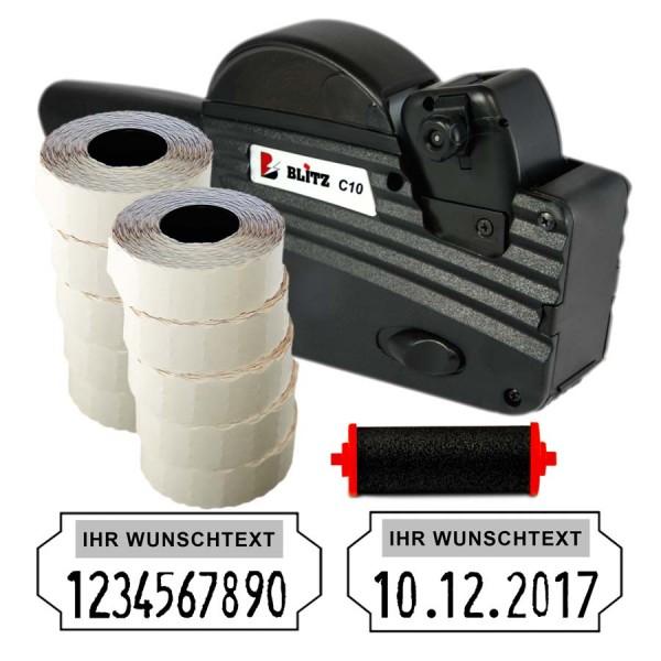 Blitz C10 Preisauszeichner, 10 Stellen (Set 15.000 + 1 FR)