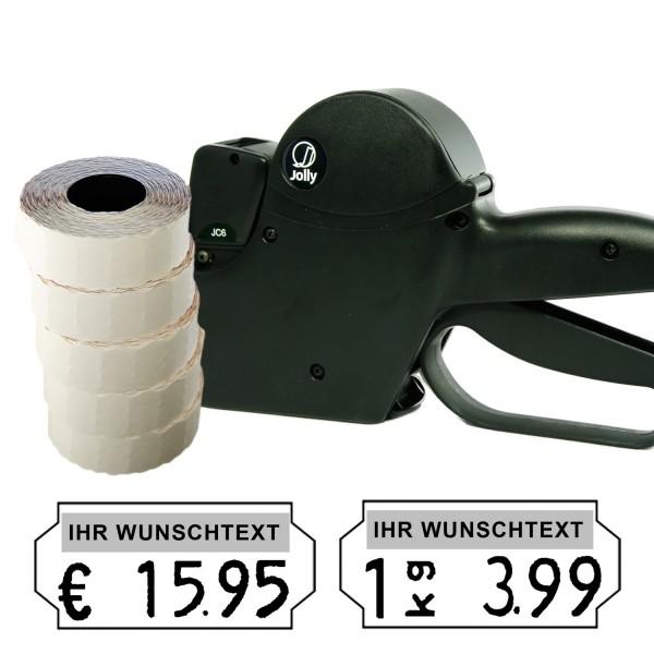 Jolly JC6 Preisauszeichner, 6-Stellen, (Set 7.500)
