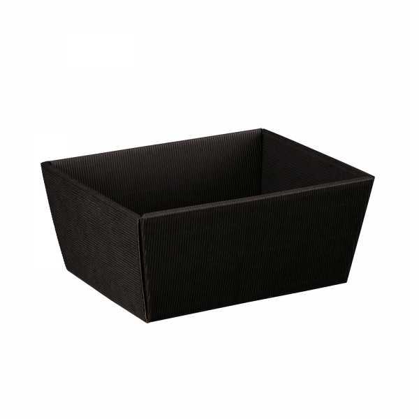 Präsentkorb schwarz offene Welle, 3 Größen