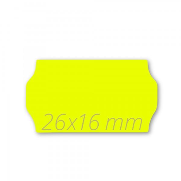 Preisetiketten 26x16, Leucht-Gelb ablösbar