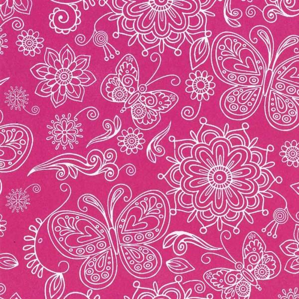 Seidenpapier Rolle für Blumen Summertime pink