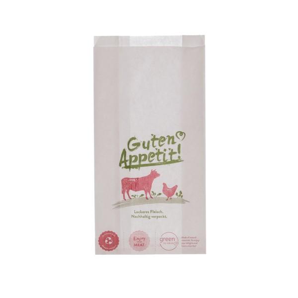 Fleischerbeutel weiß - Guten Appetit - Metzgerbeutel 3 Größen