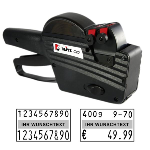 Blitz C20 Preisauszeichner, 2-Zeilen, 10+10 Stellen