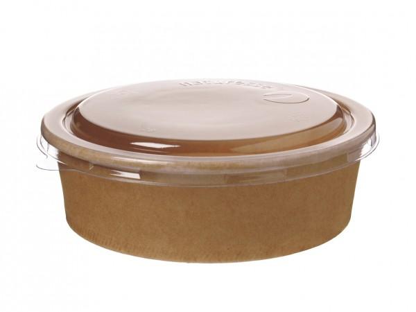 Salatschale braun 1000 ml (ohne Deckel)