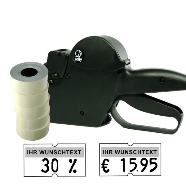 Jolly JH6 Preisauszeichner, 6-Stellen, (Set 5.000)