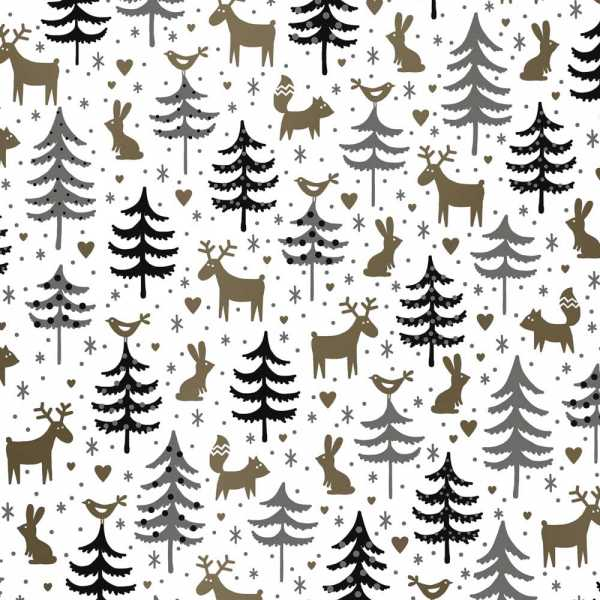 Geschenkpapierrolle Weihnachten Geschenkpapier Waldtiere