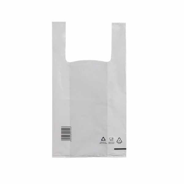 Hemdchentragetaschen LDPE COEX 25+12x47, 50my weiss