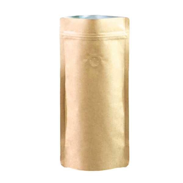 Standbodenbeutel - Doypack braun Slim-Size, Druckverschluß, Aromaventil, versch. Größen