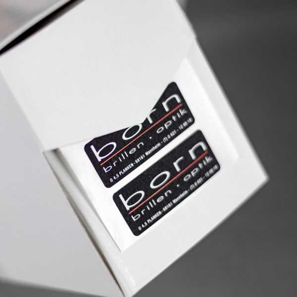 Prägeetiketten 70x50 mm rechteckig mit abgerundeten Ecken | eleganter Heißfolienprägedruck