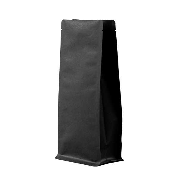 Bodenbeutel Boxpouch Kraftpapier schwarz ohne Alu in verschiedenen Größen